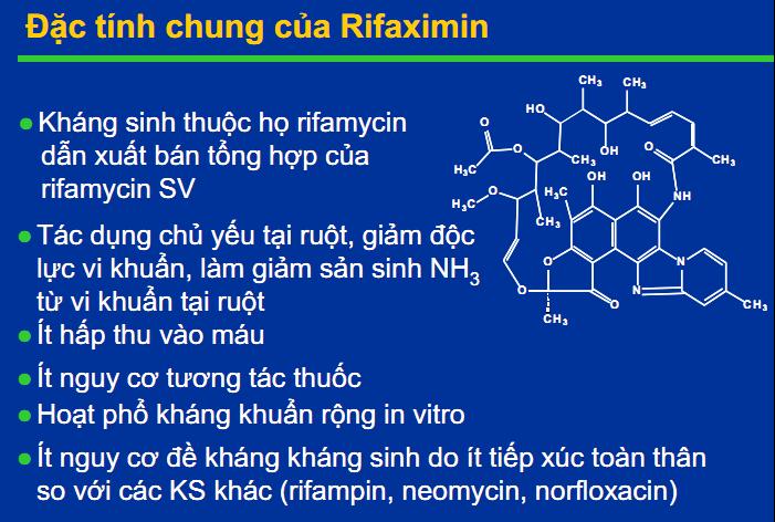 Đặc tính chung của  rifaximin