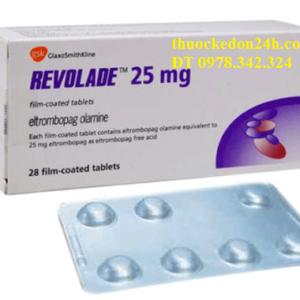 Thuốc Revolade Eltrombopag 25, 50, 75mg giá bao nhiêu, Tác dụng