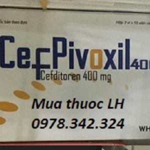 Mua thuoc Cefpivoxil 400mg (Cefditoren) ở đâu? bán giá bao nhiêu?