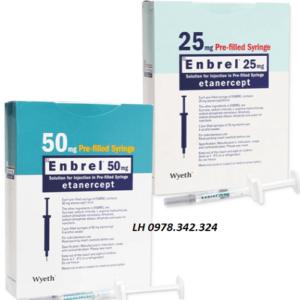 Thuốc Enbrel 25m Tác dụng cách dùng mua ở đâu? bán giá bao nhiêu?